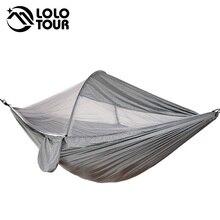 Mosquito Gratis Netting Hangmat 2 Persoon Camping Tent Draagbare Survivor Met Netto Opknoping Swing Hammc Bed Gebruik Hamak