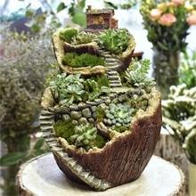 NCYP Modern Creative Resin Flowerpot Planter Fairy Tale Fantasy Micro Landscape Bonsai Gardening Garden Home Decoration