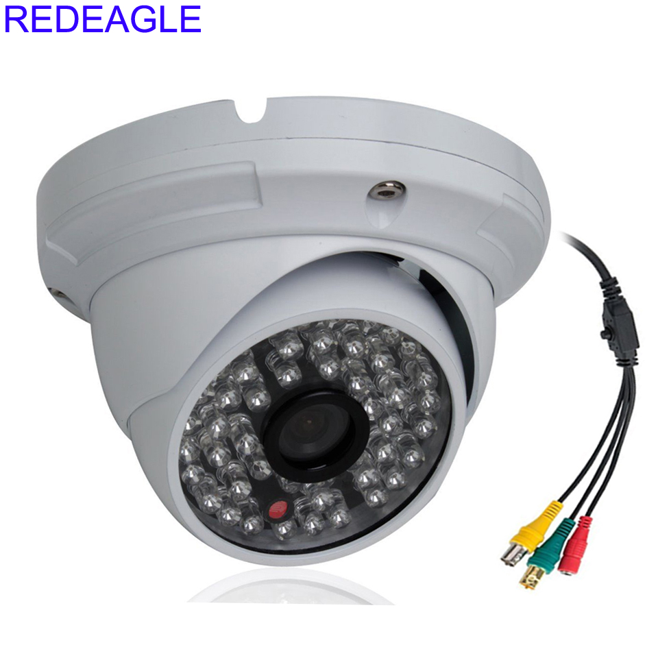 REDEAGLE CCTV 2MP CMOS HD Panasonic 1080P Indoor Outdoor SDI Dome Security Camera with 3MP 3.6mm Lens 48pcs Array LED Metal Case led телевизор panasonic tx 43dr300zz