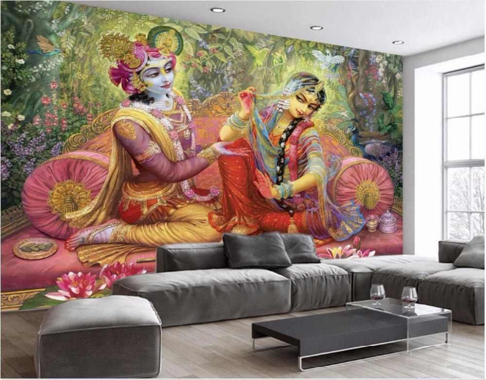 3d ruang wallpaper kustom foto Indah Indian kecantikan gambar gambar dekorasi lukisan 3d dinding mural wallpaper untuk dinding 3 d