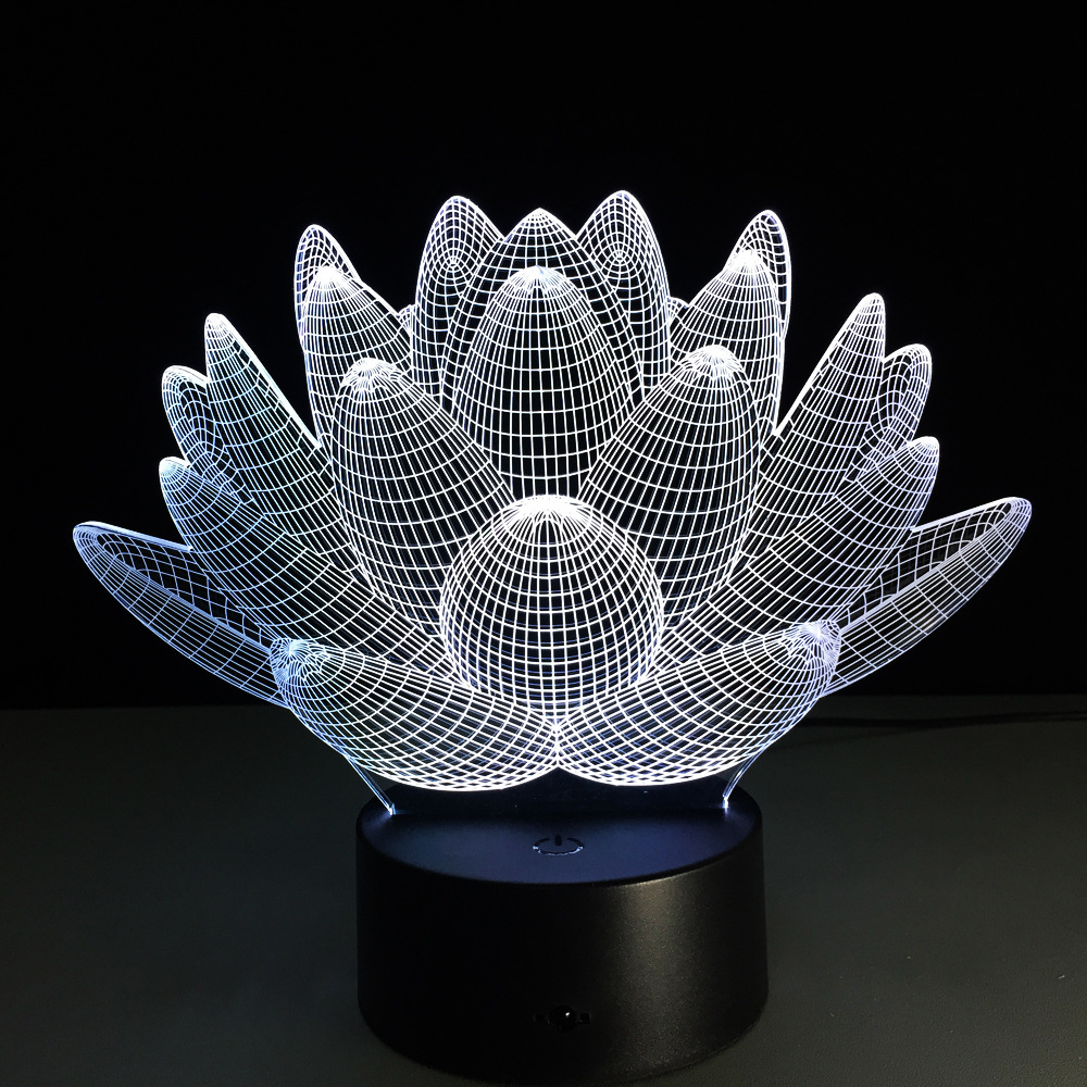 Creation 3d lotus flower led table lamp night ligh 3d lamp usb led creation 3d lotus flower led table lamp night ligh 3d lamp usb led night lamp birthday gift home night light decoration in novelty lighting from lights izmirmasajfo