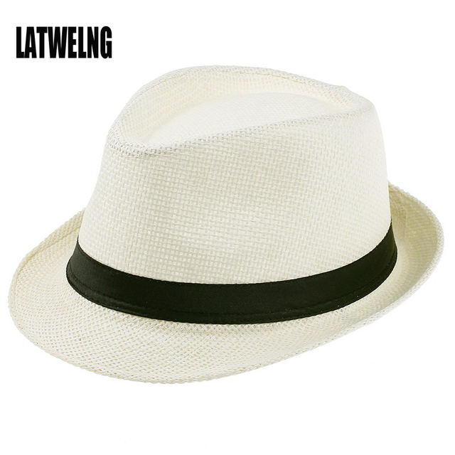 Mujeres y Hombres verano Floppy sombrero de paja panamá sombreros de playa  para las mujeres Tea 3c9d302456b