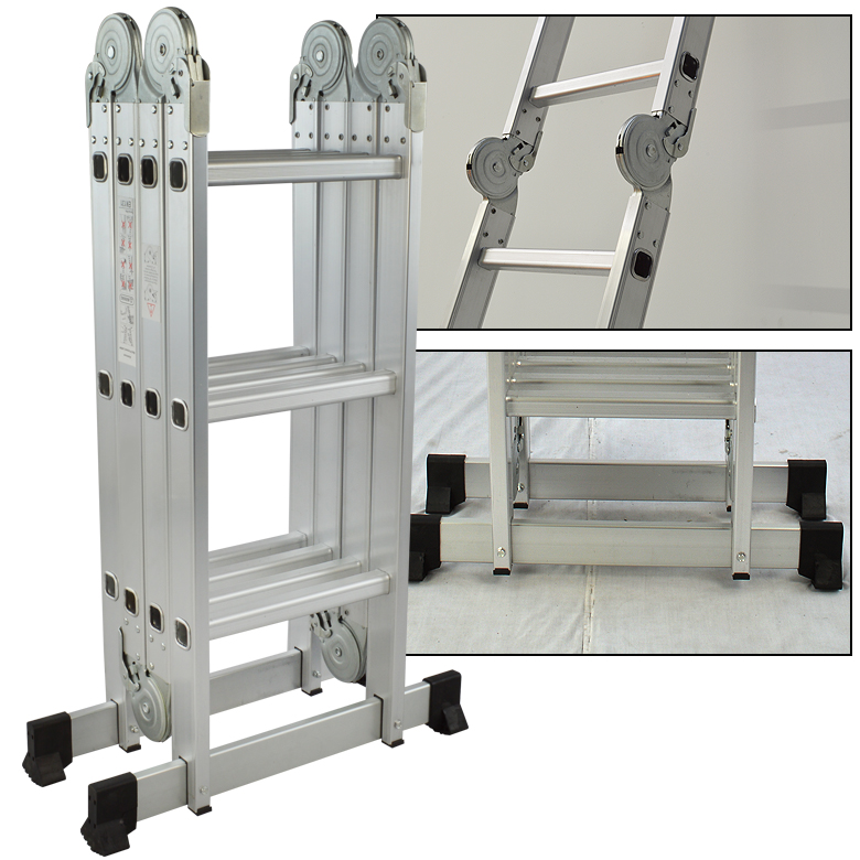 Multi Purpose Aluminum Folding Step Ladder 12 5ft New En131 In