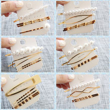 4Pcs/Set Pearl retro Metal Hair Clip Hairband Comb Bobby Pin Barrette Hairpin Headdress Accessories Beauty Styling accessory(China)