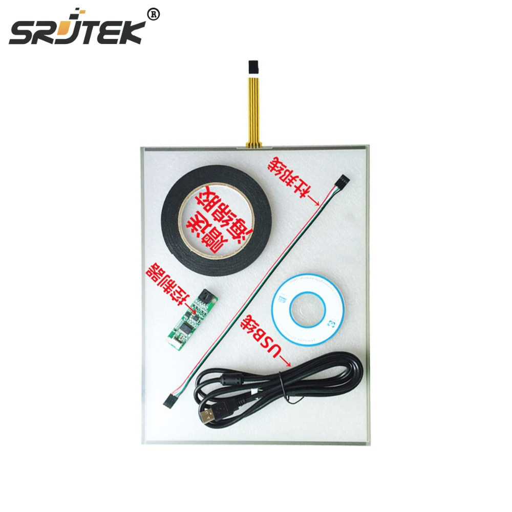 Srjtek 19 Inch 323mmx396mm 5 Wire Resistive Touch Screen Panel with USB Controller Kit стоимость