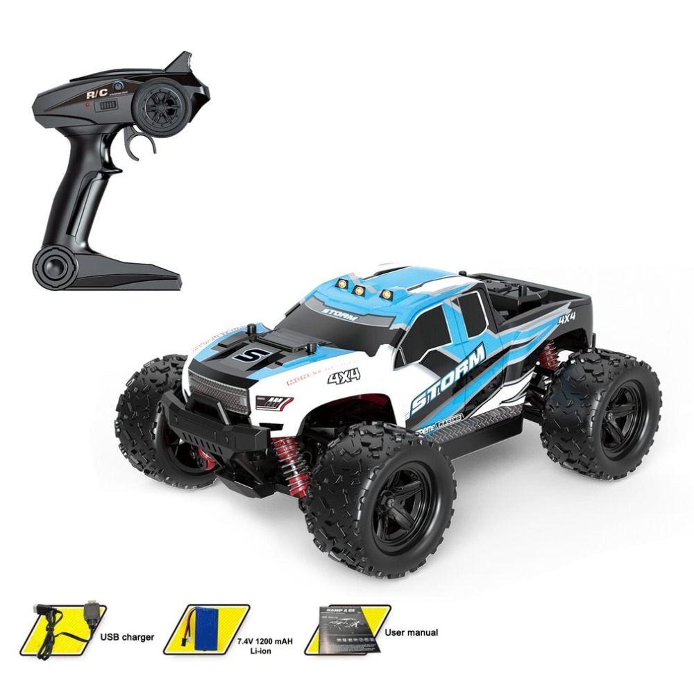 1:18 Scale 4CH 4WD 2.4GHz Mini Off Road RC Racing Car Truck Vehicle High Speed 36km/h Remote Toy for Kids hi