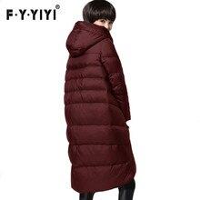 Nouveau mince de mode lâche grande taille Mince s'agenouiller vers le bas veste femmes dans la longue section de Femmes hiver veste manteau femme hiver