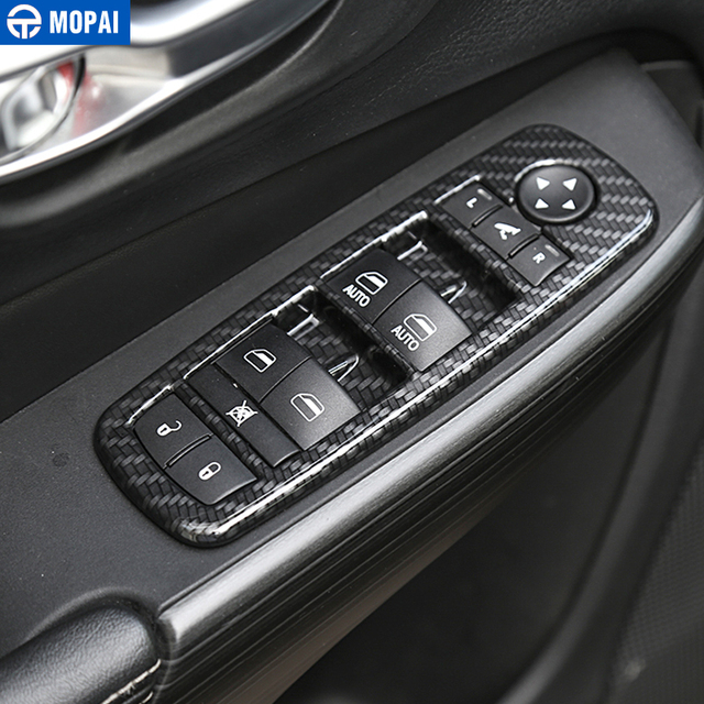 MOPAI ABS Car Interior Window Switch Button Decoration Cover Stickers for Jeep Cherokee for Grand Cherokee for Dodge Durango 3