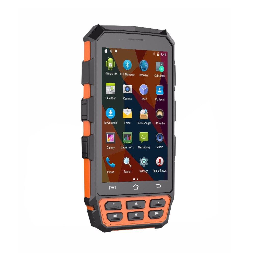 IP65 Outdoor New Handheld PDA Android 7 0 1D 2D Barcode Scanner Fingerprint Reader RFID Reader