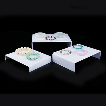 1 Set of 3pcs White Acrylic Display Riser Jewelry Showcase Display адаптер lenovo system x3550 m5 pcie riser 1 1xlp x16cpu0 00ka061 page 9