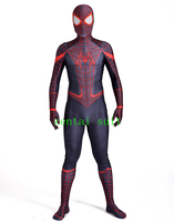 Stunning Miles Morales Spiderman Costume 3D Print Spandex Fullbody Halloween Cosplay Spider Suit For Adult Kids