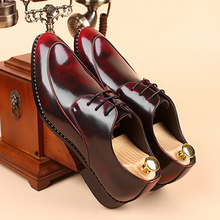 mens business wedding work dress bright genuine leather shoes point toe font b oxford b font
