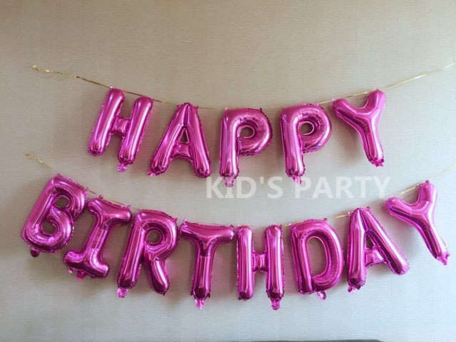 13pcs pink happy birthday 16 inch foil balloons pink letters baloons