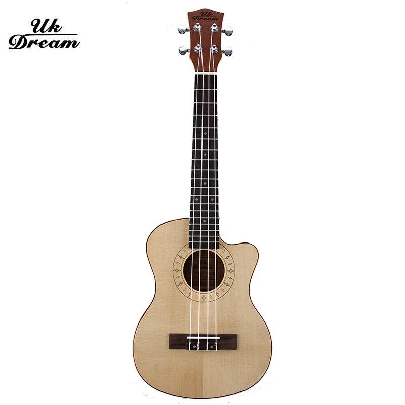 Pequeño Ukulele Guitarra De Madera Astillado Guitarras Instrumentos Musicales 26