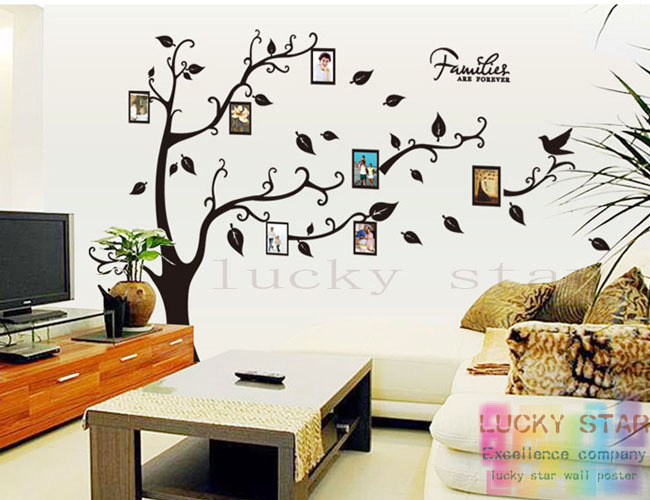 Diy Wall Murals large-diy-photo-tree-frame-wall-stickers-family-picture-decoration-wall- mural-art-removable-3d-pvc