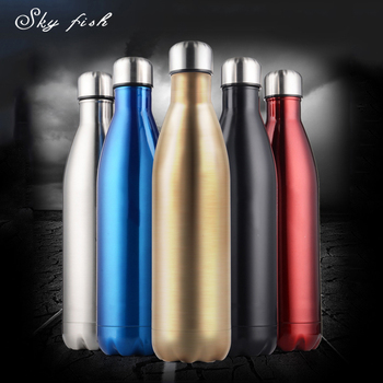 Sky Fish 12oz17oz25oz 5 color Stainless Steel Thermos Water Bottle Vacuum Insulated Sport Water Bottle for Running Traveling water bottle