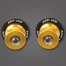 For YAMAHA MT125 MT 125 MT-125 MT-07 MT-09 MT-10 2015-2017 Motorcycle Accessories CNC Swingarm Sliders Spools Stand Screws цена