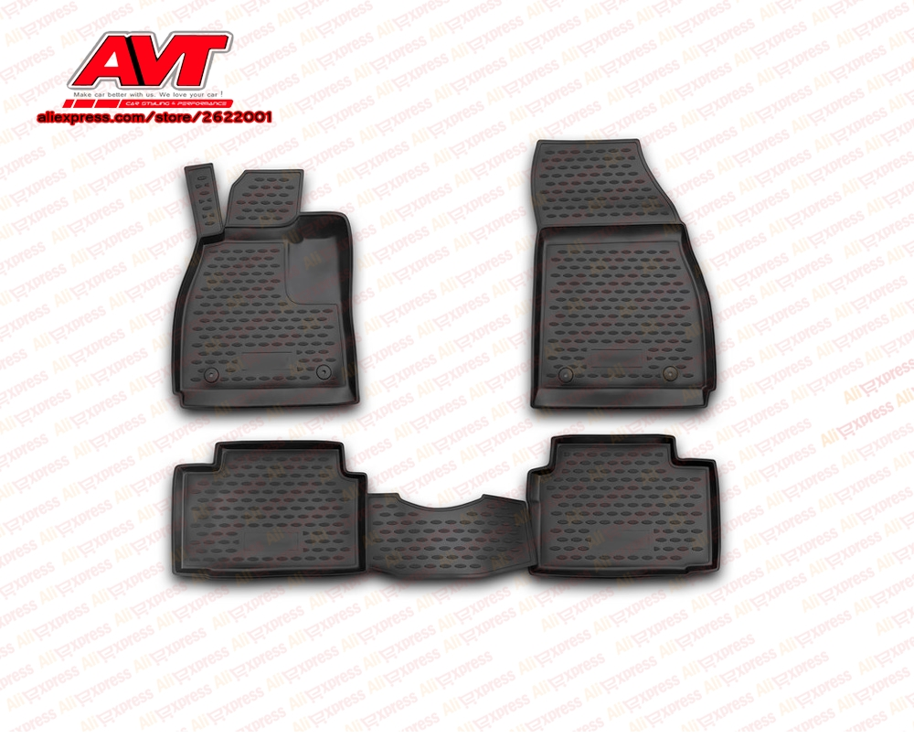 Floor mats for Opel Insignia 2008 4 pcs rubber rugs non slip rubber interior car styling accessories