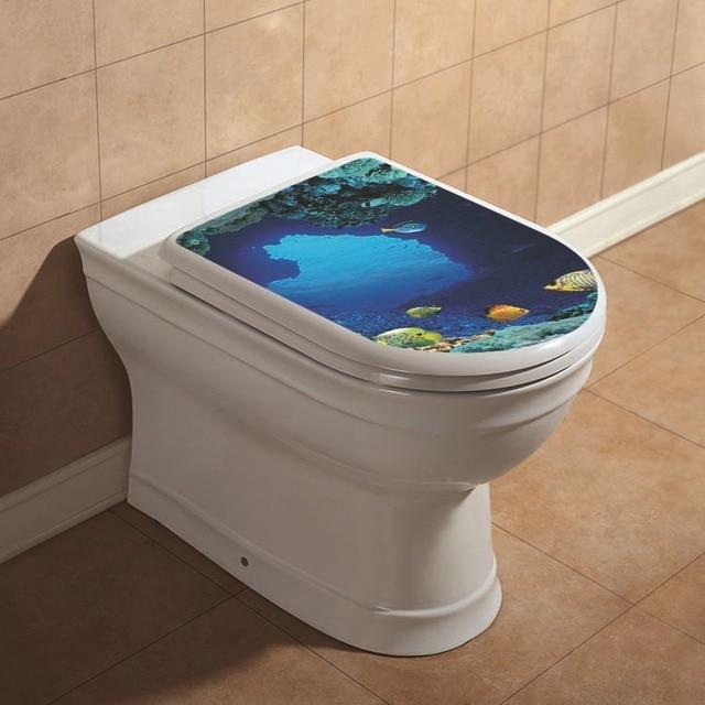 tropical fish toilet seat. Toilet Seat Wall Sticker Tropical Fish  beach sand Turtle Vinyl Art Wallpaper Bathroom Decals
