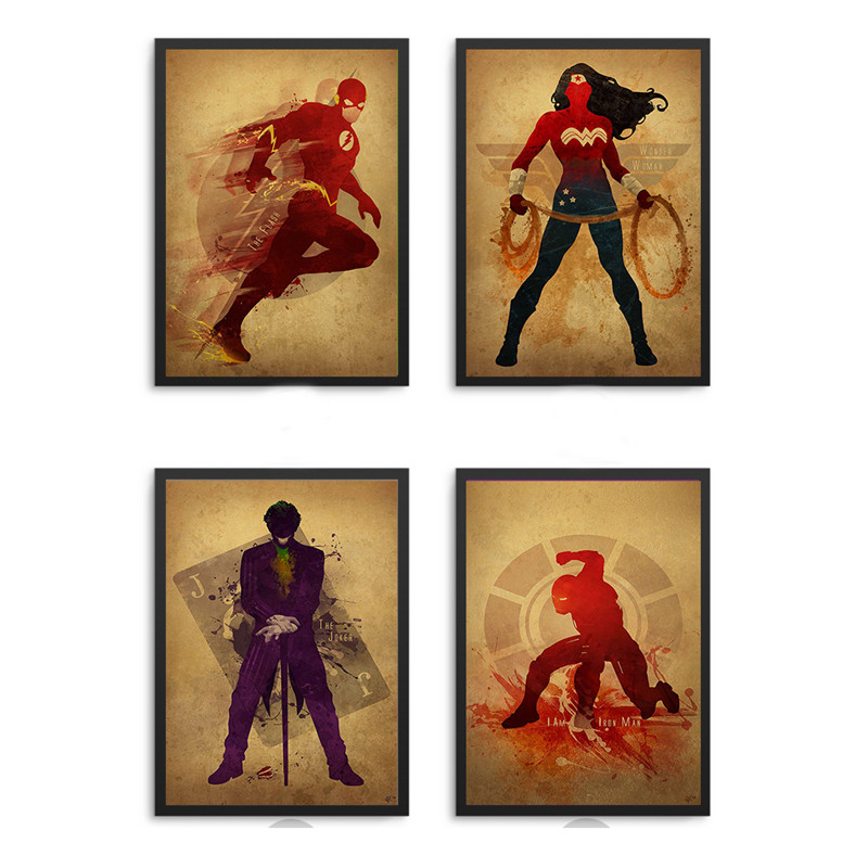 Super Hero Justice League canvas Painting Decor Wall Pictures Art Posters and Prints Can ...