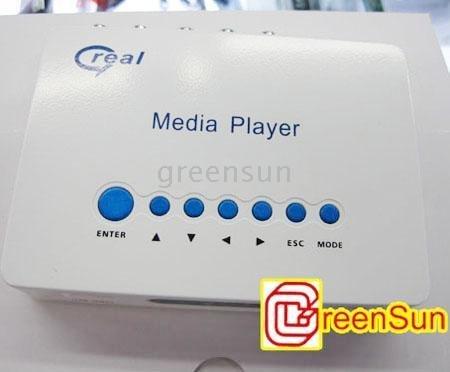 New Q7L 2GB HD Media USB SD TV Player FLV RMVB AVI MPEG DivX N BOX for Home Theater 720P