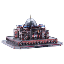Microworld 3D metal puzzle Mausoleum of Humayun building Model DIY Laser Cut Jigsaw gift  Educational Toys Desktop decor