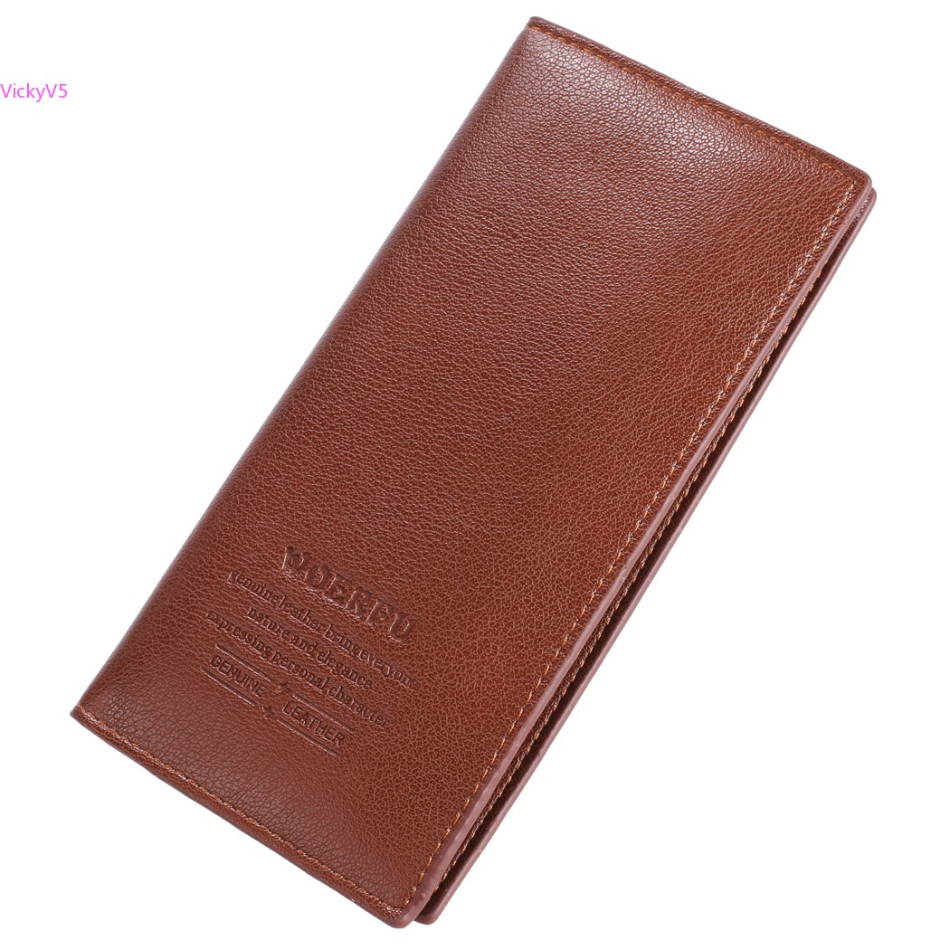 28d46ce75 Promoção especial 2014 novas bolsas homens carteiras longo marrom estilo Retro  carteira de couro para homens 41