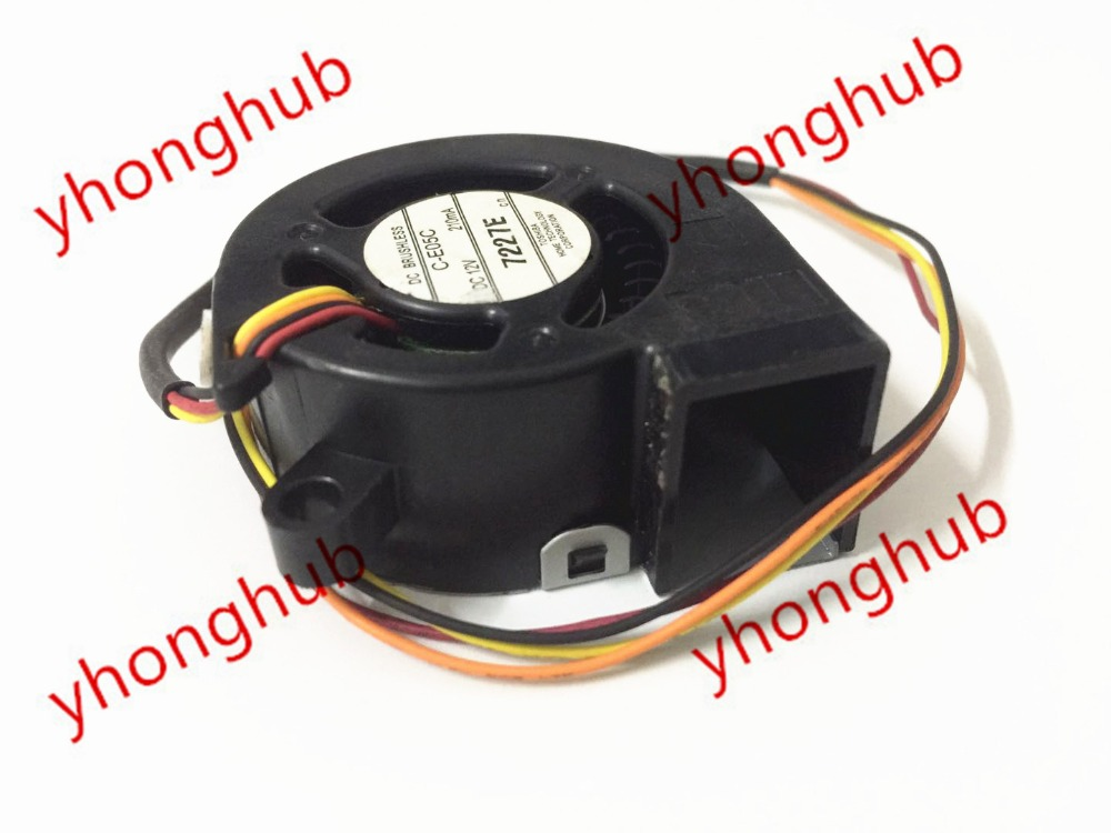 Emacro C-E05C Server Projector Fan DC 12V 210MA 45x45x20mm 4-wire free shipping emacro sf7020h12 61as dc 12v 250ma 3 wire 3 pin connector 65mm6 server cooling blower fan