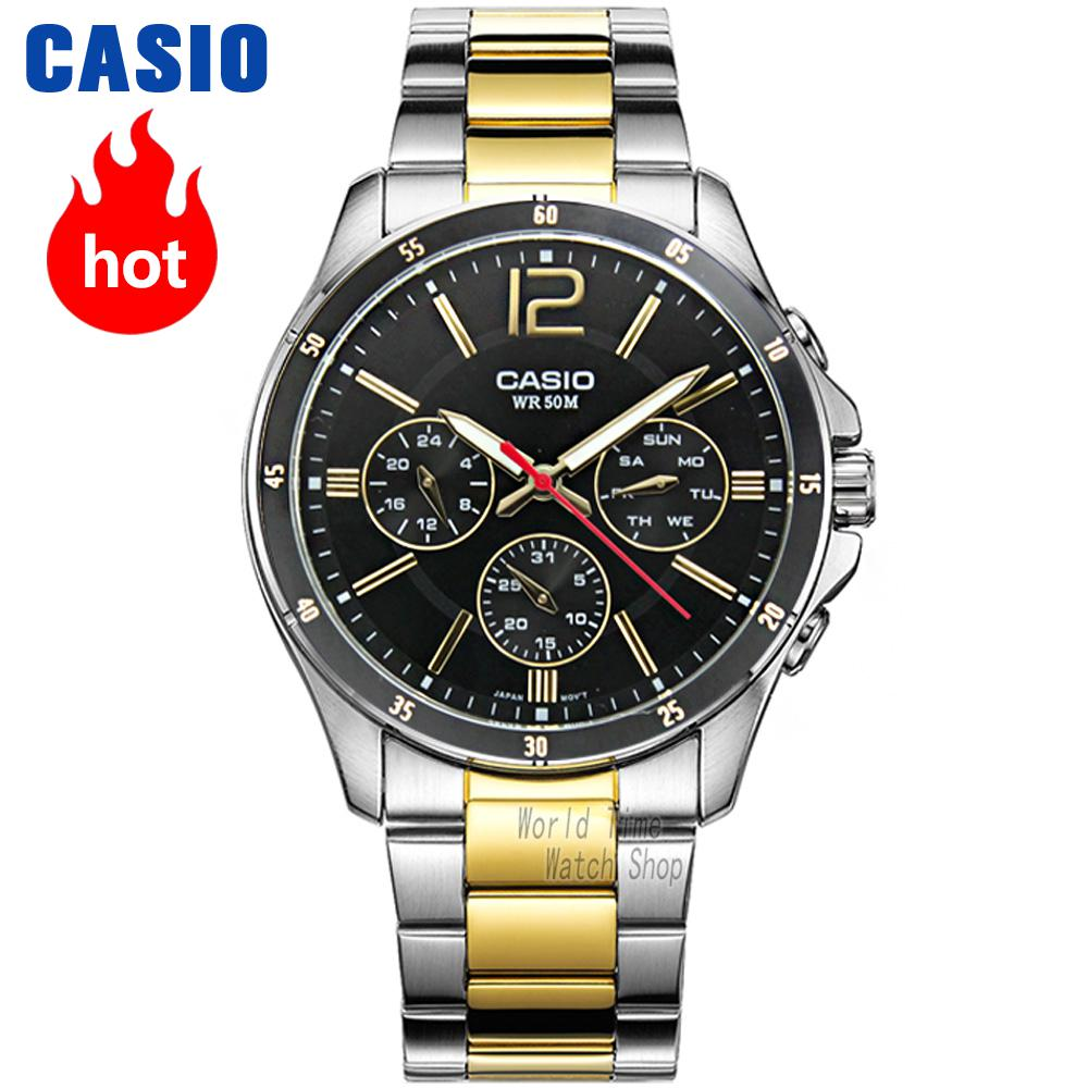 Casio watch men sports waterproof quartz luminous watch MTP-1374D-7A MTP-1374L-7A MTP-1374SG-1A MTP-1374SG-7A MTP-1374D-1A zippo zippo 28287