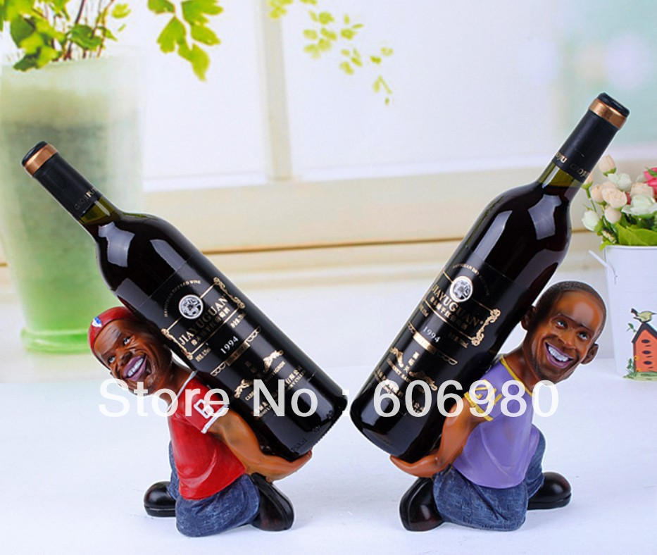 Factory Direct Sell Creative Resin High Grade European Style Wine Rack Fashion Home Decoration Wine Holder Wholesell