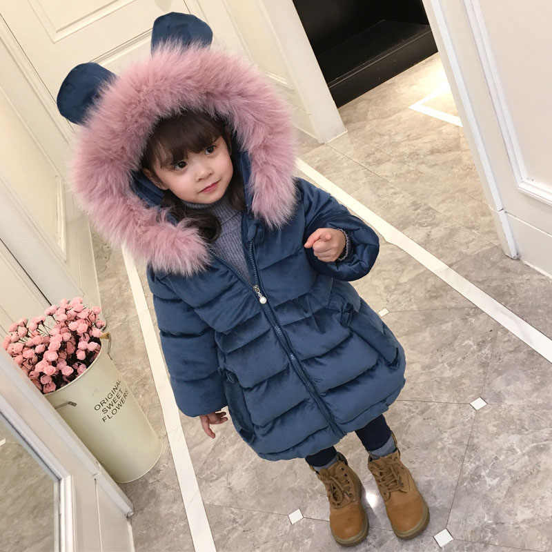 8c681ca77 ... Chaqueta de invierno para niñas, abrigo para bebés, niños, niños, tops  de ...