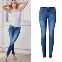 Europe and the United States fashion 2017 New Stretch Tight jeans