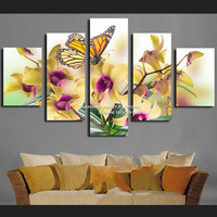 DPF Hot Butterfly Flower triptych Diamond Painting embroidery rhinestones 3D picture cross stitch pattern Home decor drawing