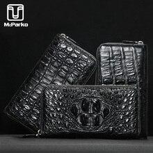 McParko Men Wallet Genuine leather Crocodile Clutch Alligator Skin Leather Purse Zipper Luxury Brand minimalist wallet