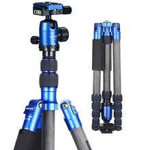 Manbily CZ-305 Profissional Monopé Fibra De Carbono Tripé para Nikon Canon Câmera Digital SLR Portátil Luz Fotografia Estande