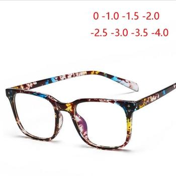 ee96f9296e Vintage arroz de TR90 de los hombres de las mujeres terminado miopía gafas  1,56 lente asférica cuadrado gafas 0 ~- 400