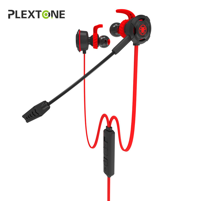 Plextone In-ear Earphone Gaming Headset Stereo with Mic PC Gamer for PS4 Xbox One xiberia mg 1 in ear gaming headphones stereo earphones for pc phone ps4 xbox one mac bass in ear headset gamer casque with mic