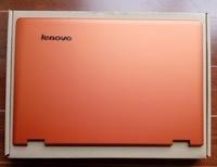 Yeni/orig lenovo ideapad yoga 13 lcd arka arka kapak orange 11s30500200 logo ile
