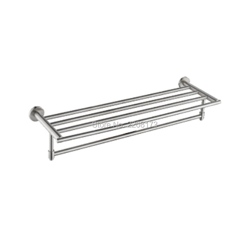 Simple Style SUS304 Stainless Steel Bathroom Wall Mounted Towel Rack Bathrobes & Bath Towel Racks Bathroom Towel Shelf simple style sus304 stainless steel bathroom wall mounted towel rack bathrobes