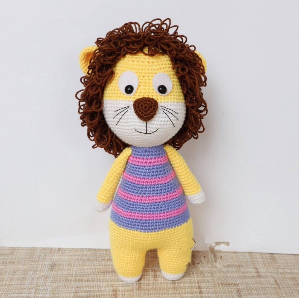 Crochet Toy Amigurumi Doll Lion  Rattle   Model Number SCA002