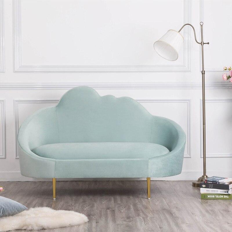 U BEST Fabric modern simple sofa set design small sectional sofa, bedroom leisure living room fabric sofa