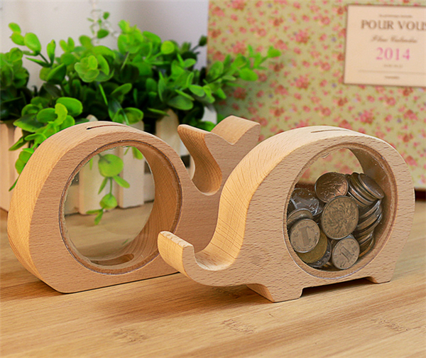 Wooden Animal Shapes Piggy Bank / Creative Cartoon and Durable Home  Decorative Items-in Money