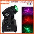 10 Watt LED Mini Moving Head Strahl Licht 4 in 1 RGBW LED moving head Für Partei Beleuchtet führte dj lichter-in Bühnen-Lichteffekt aus Licht & Beleuchtung bei