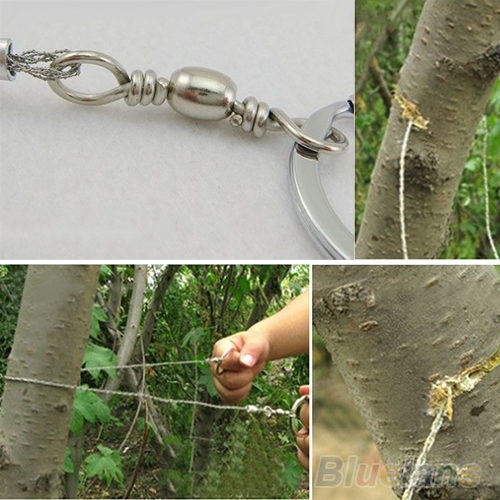 Image 3 - Emergency Survival Gear Steel Wire Saw Camping Hiking Hunting Climbing Gear-in Outdoor Tools from Sports & Entertainment
