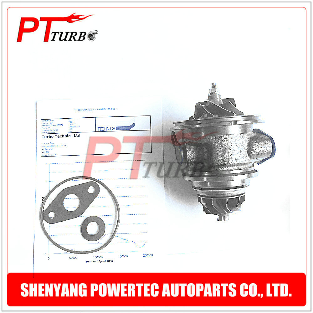 Turbo charger cartridge for Citroen C-Elysee / C3 / DS 3 / Berlingo 1.6 HDI 75HP / 92HP  - Core assembly CHRA 49373-02003/2 turbo cartridge chra core gt1544v 753420 740821 750030 750030 0002 for peugeot 206 207 307 407 for citroen c4 c5 dv4t 1 6l hdi