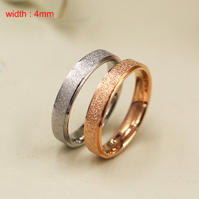 top sale cheap bling female ring sand finish ring Stainless Steel women's ring for new year gifts