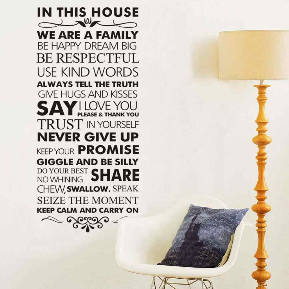 In This House Family Rules Home Decor Quotes Wall Decal 8084 Decorative Adesivo De Parede Vinyl Wall Sticker Wall Art Wall Art Quote Wall Decalvinyl Wall Stickers Aliexpress