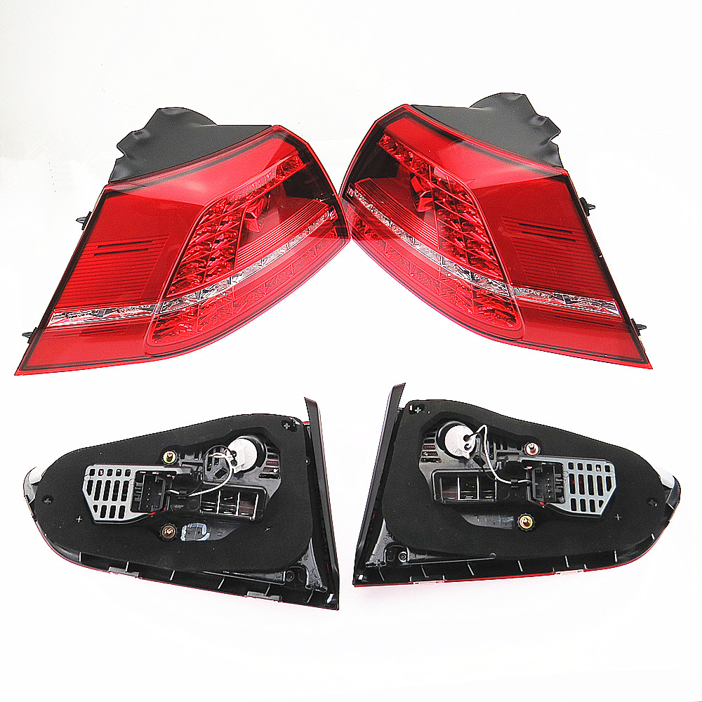 DOXA 12V Genuine VW GTI MK7 LED Dynamic Tail Light For VW Golf 7 Rear Left & Right Side 5G0945207 5G0945208 5G0945307 5G0945308 new high quality 1 piece led dark red tail lamp tail light right fit for vw golf gti r mk7 2013 2016 5g0 945 208 5g0945208