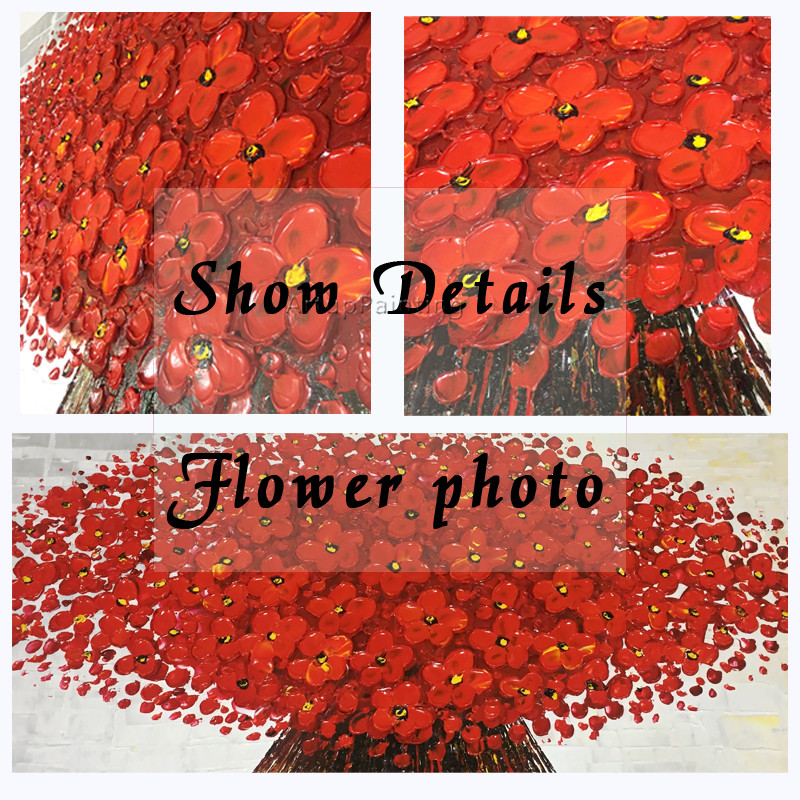 Canvas Painting palette knife 3D texture acrylic Flower painting Wall - Home Decor - Photo 5