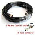 5 м N мужчин и N мужской разъем 75-5 Коаксиальный Кабель телекоммуникационный кабель для подключения усилитель повторитель с антенна